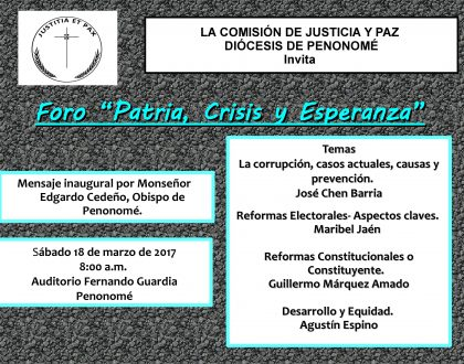 """Foro - """"Patria, Crisis y Esperanza"""""""