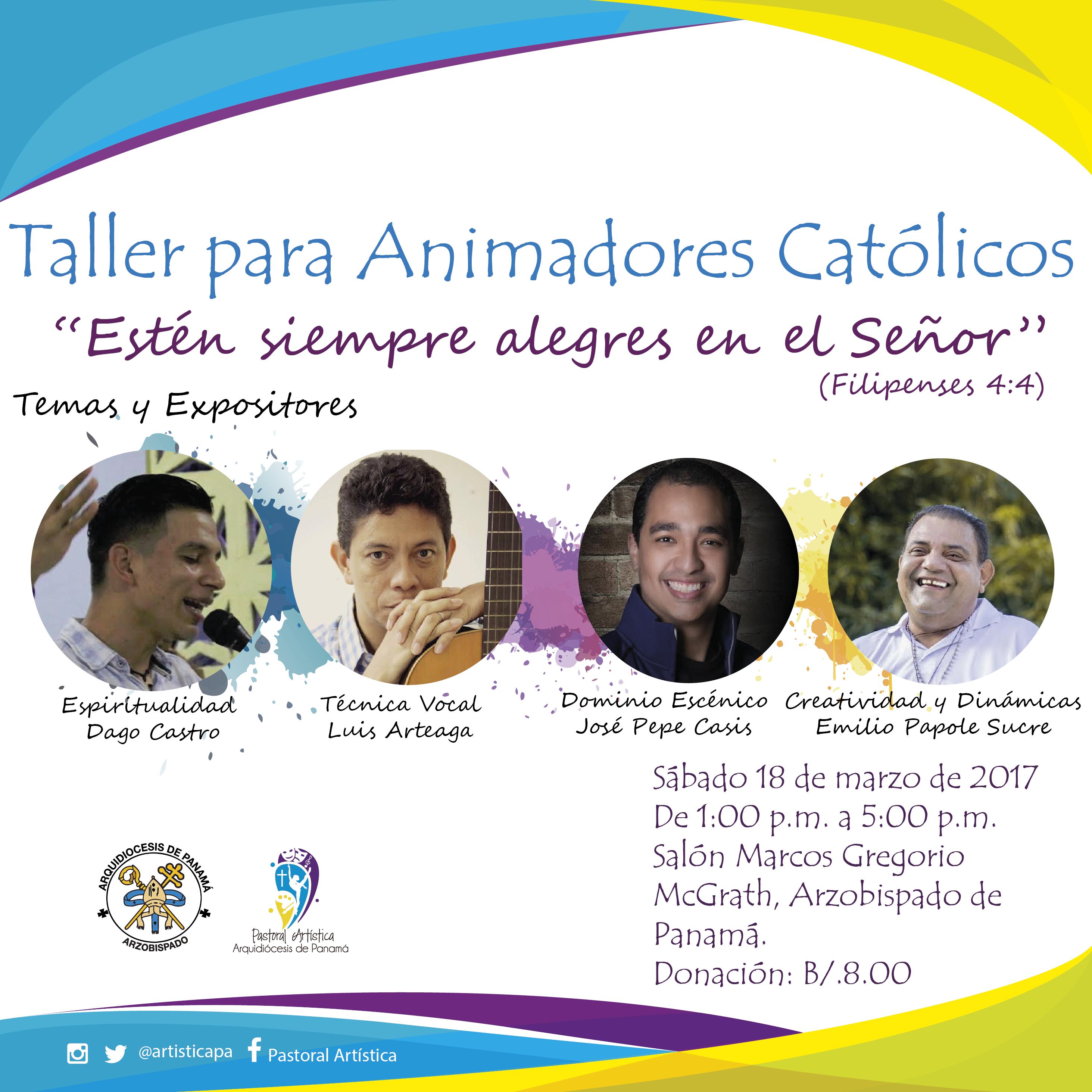 Taller para Animadores Católicos - Rumbo a la JMJ Panamá 2019