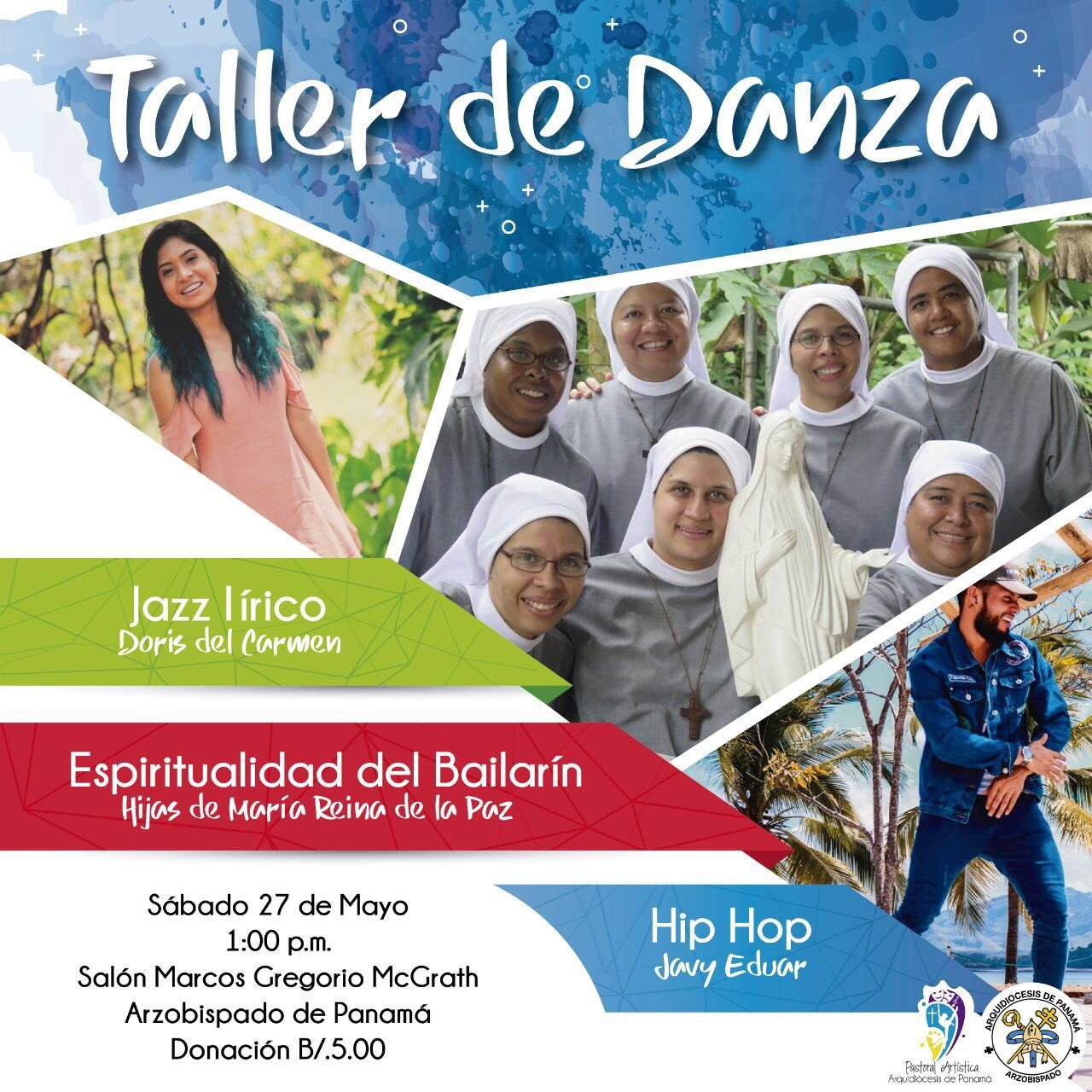 "Pastoral Artística invita a ""Taller de Danza"""