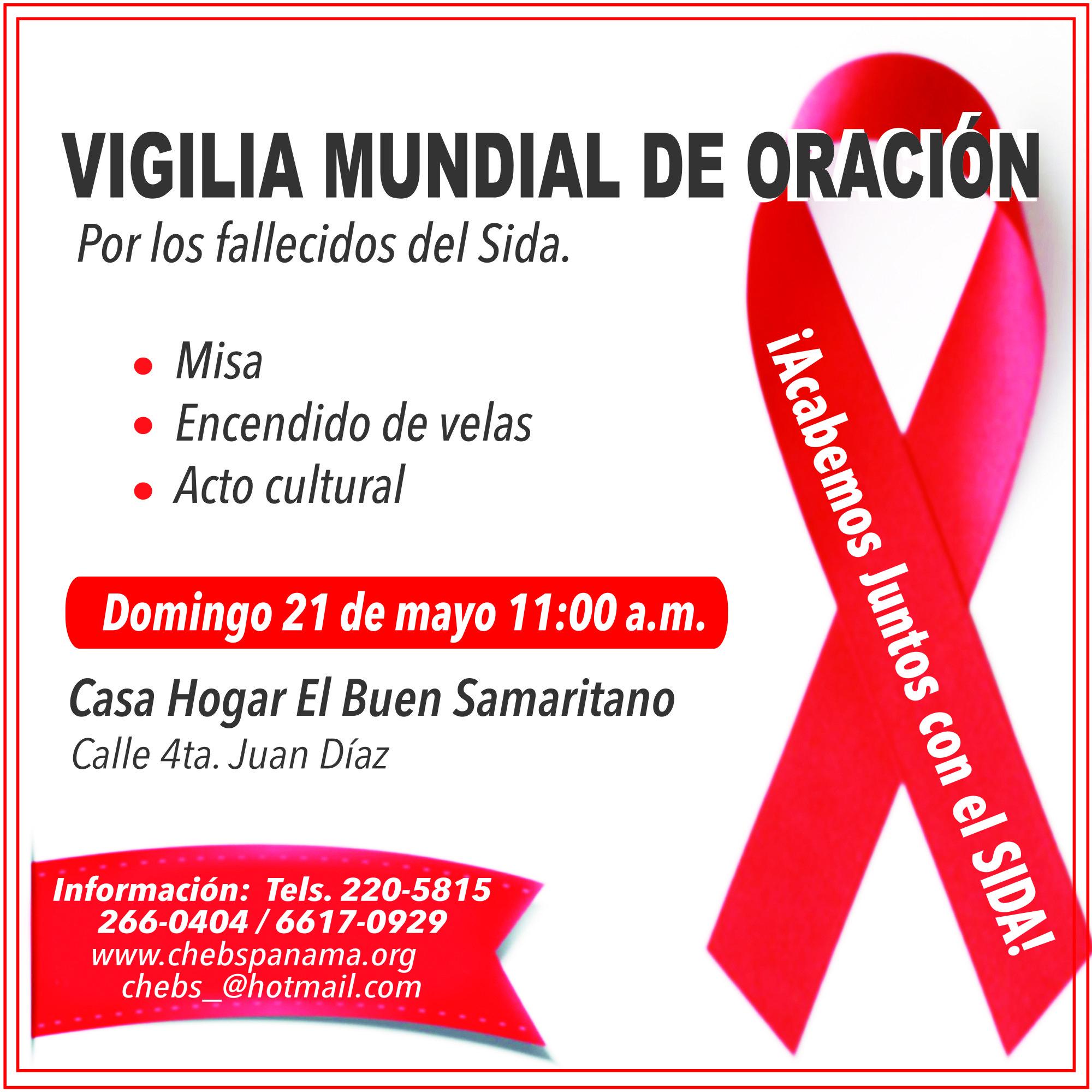 XXXIV Vigilia mundial de oración por los fallecidos del sida.