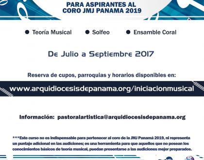 Curso de Iniciación Musical – Rumbo a la JMJ Panamá 2019