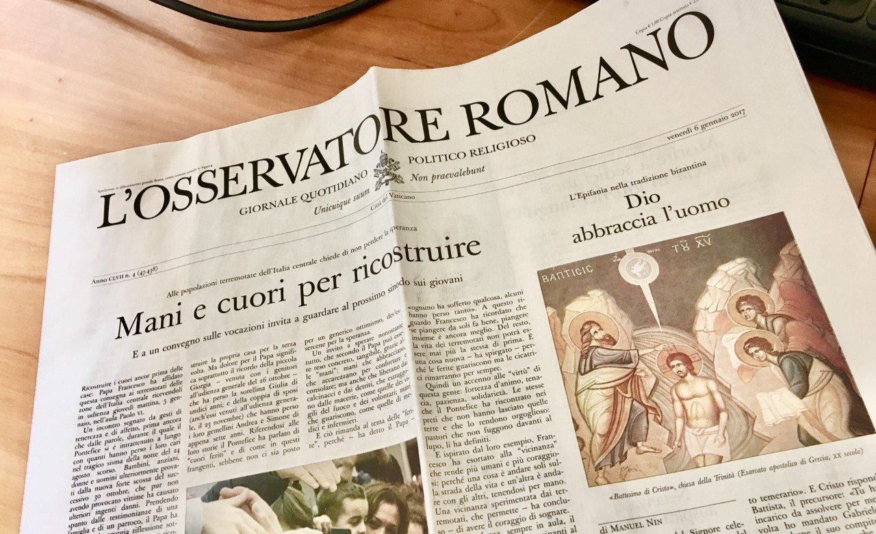 Edición en Panamá para L'Osservatore Romano