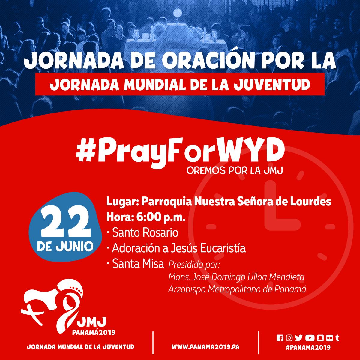 Jornada de oración por la JMJ 2019 #PrayForWYD