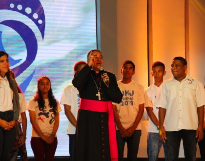 Ovación del público al escuchar el himno oficial de la JMJ Panamá 2019