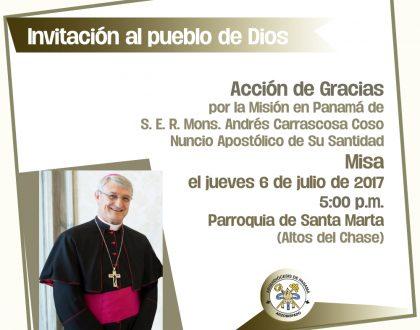 Invitación a la Eucaristía por el Nuncio Apostólico