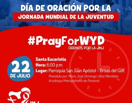 Día de Oración  y llegada de los símbolos de la JMJ Panamá 2019 en Brisas Del Golf