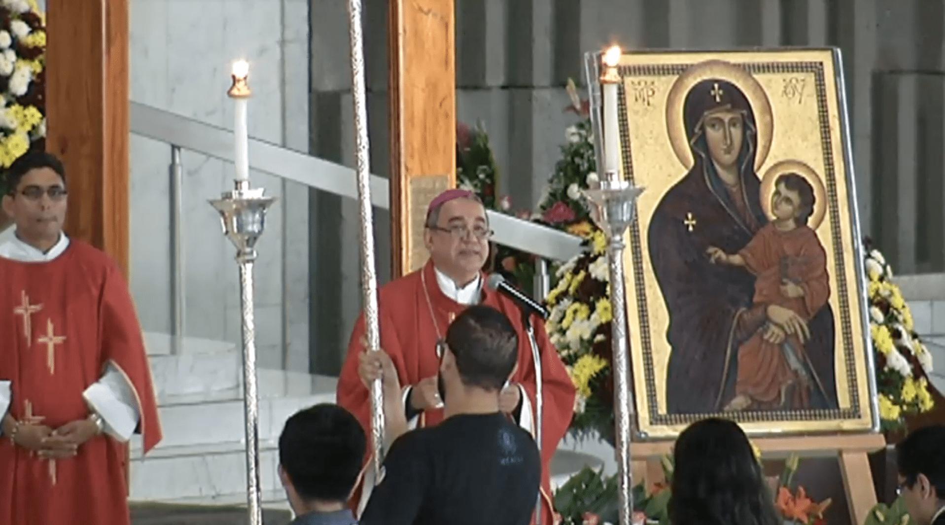 Palabras del Arzobispo en la entrga de los signos de la JMJ en la Basílica de Guadalupe