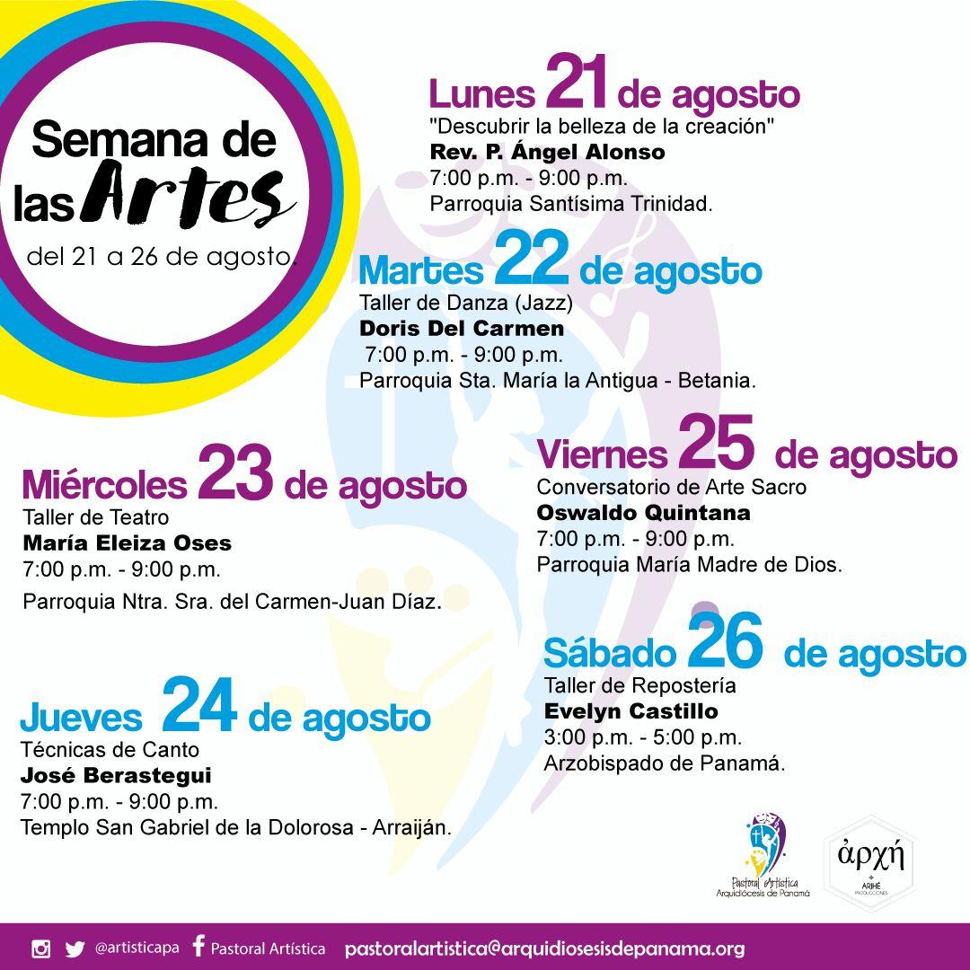"""Pastoral Artística  organiza  la """"Semana de las Artes"""""""