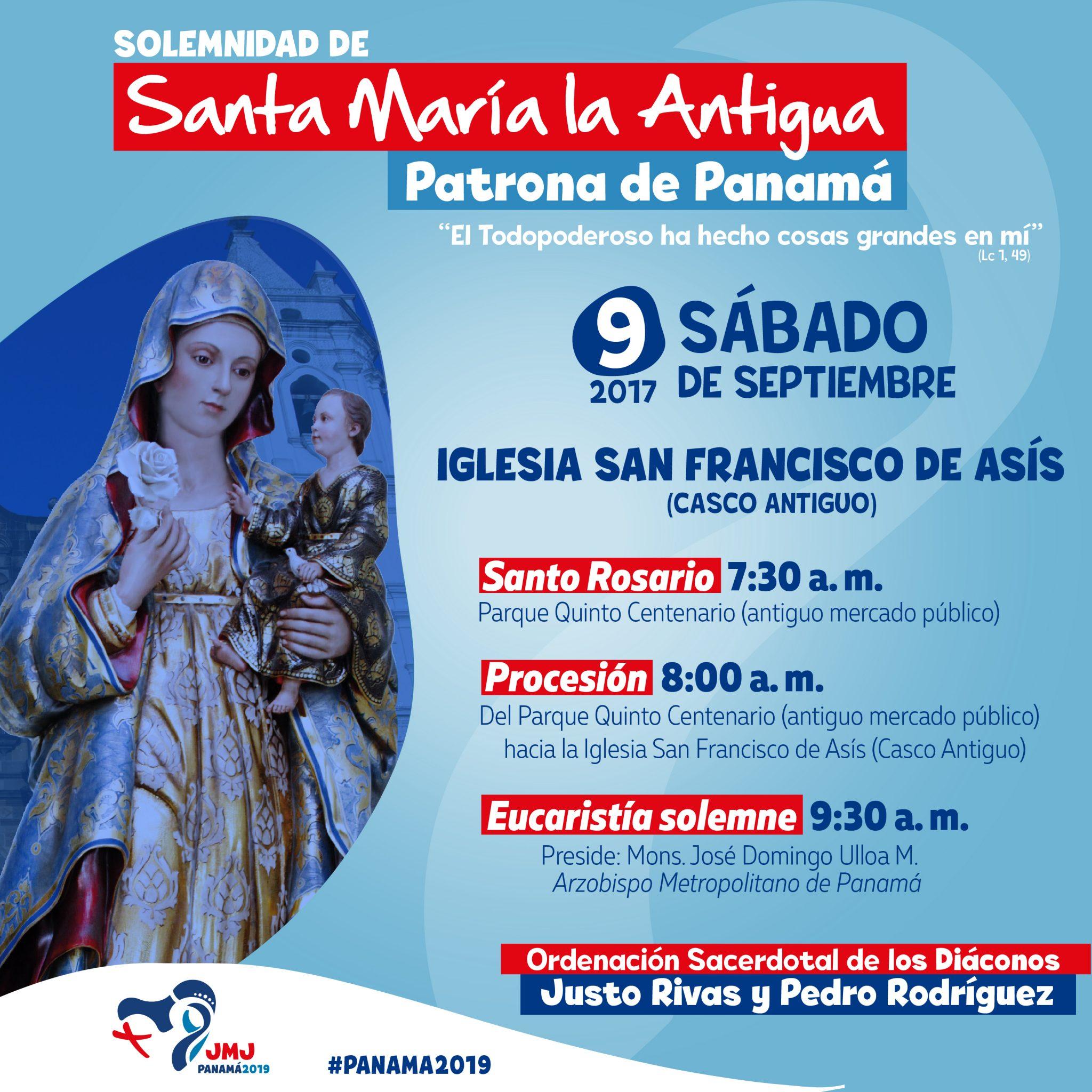Festividad de la Patrona de Panamá será celebrada con ordenaciones sacerdotales