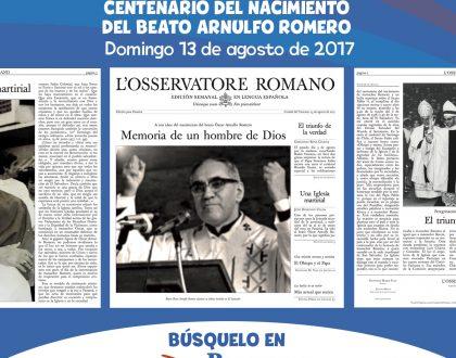 [Edición Especial] L'Osservatore Romano - Beato Arnulfo Romero