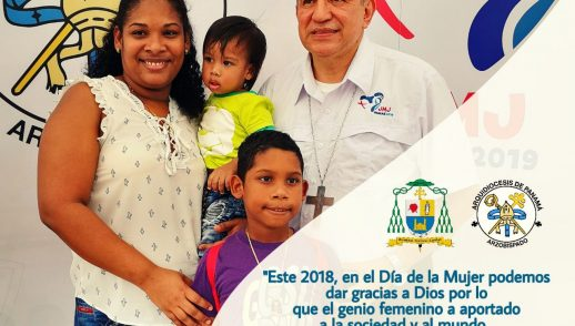 Palabras de Monseñor José Domingo Ulloa  en el día de la Mujer