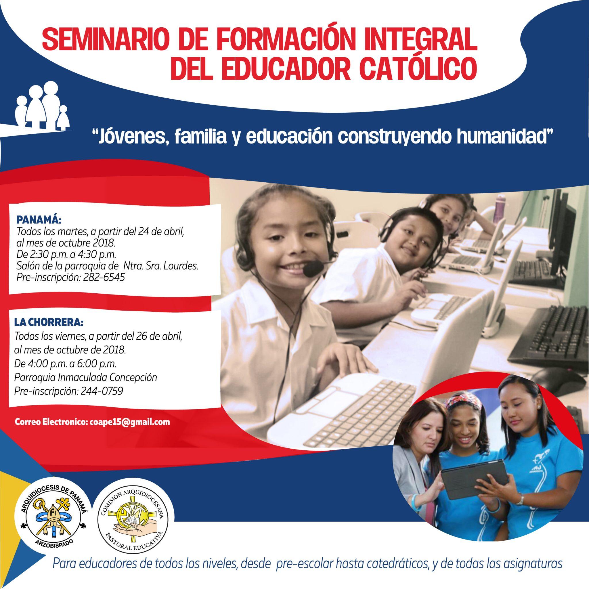 Seminario de Formación Integral  del Educador Católico