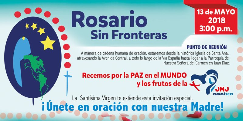 Panamá se unirá al Rosario sin Fronteras  del continente americano