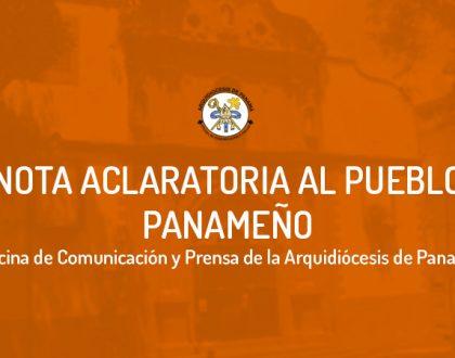 Nota aclaratoria al Pueblo Panameño