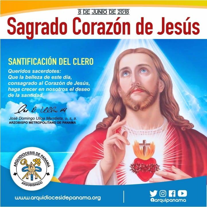 Mensaje del Arzobispo de Panamá en la Solemnidad del Sagrado Corazón de Jesús