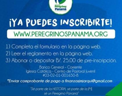 Formaciones e inscripción para formar parte de la Delegación Peregrinos Panamá.