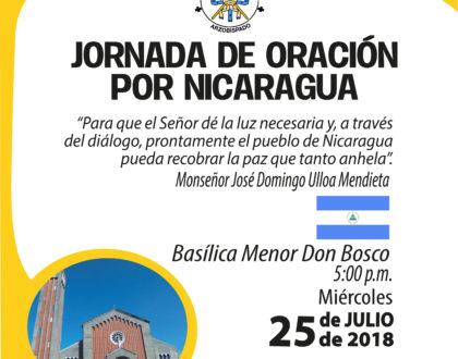 Arzobispo presidirá oración por Nicaragua