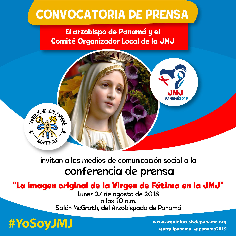 Conferencia de Prensa: Imágen de Fátima en la JMJ