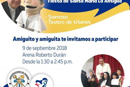 En la Solemnidad  Santa María la Antigua,  se hará JMJ KIDS y lanzamiento de AP Media