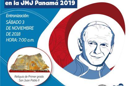 Entronización de la Reliquia de Primer Grado  San Juan Pablo II