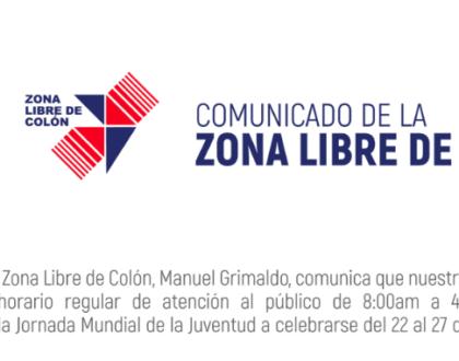 La Zona Libre de Colón da la bienvenida a los peregrinos