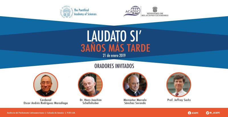 """En el marco de la JMJ se celebrará conferencia: """"Laudato Si'. 3 años más tarde""""."""