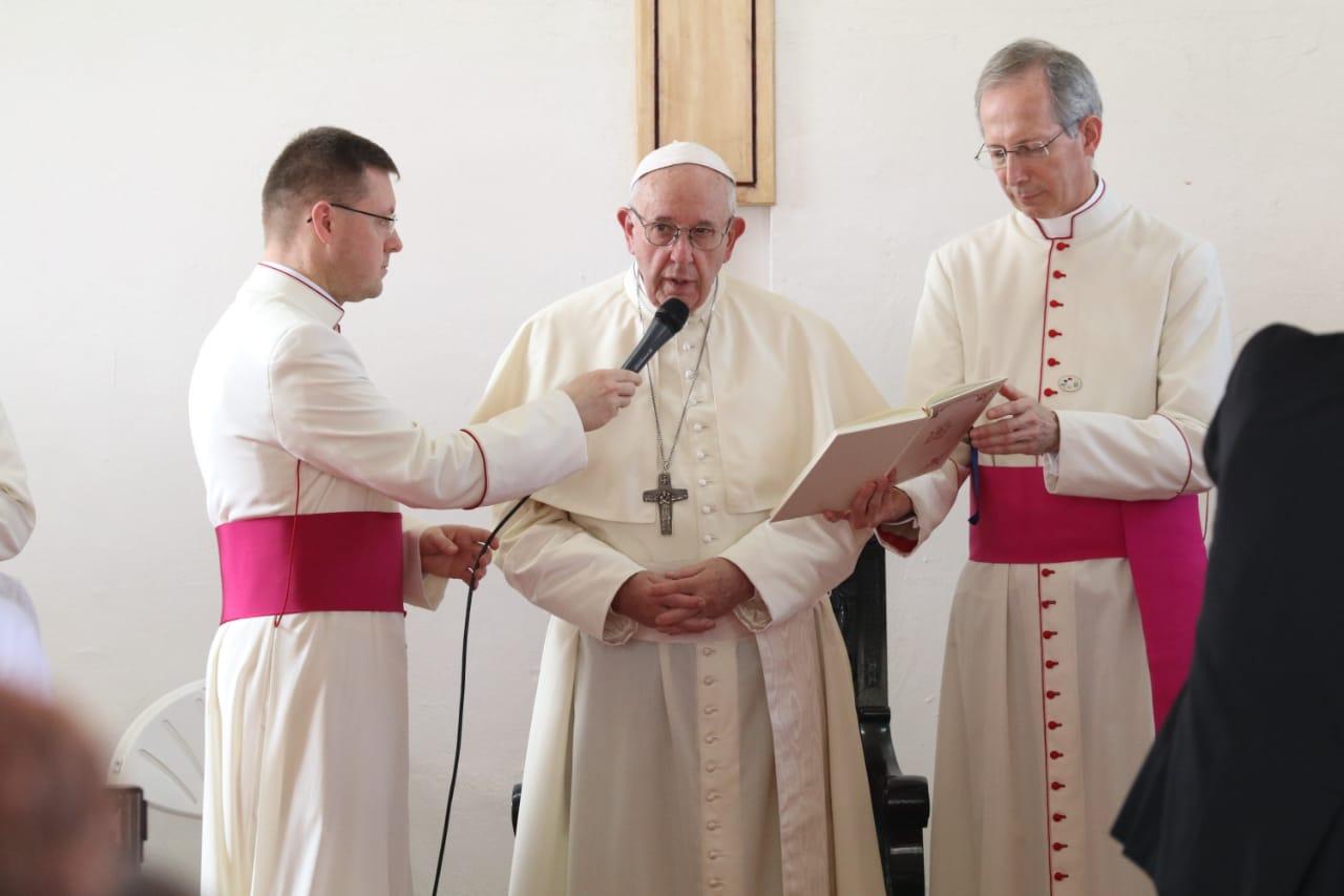 Liturgia penitencial con los jóvenes privados de libertad Centro de Cumplimiento de Menores Las Garzas de Pacora