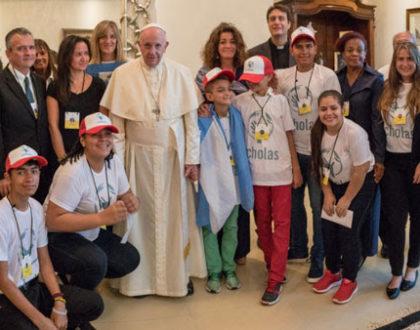Papa Francisco encuentra Scholas Occurrentes durante la JMJ