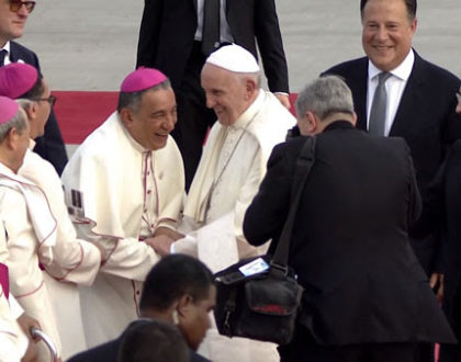 El Papa Francisco ya en Panamá para encontrase con la juventud del mundo