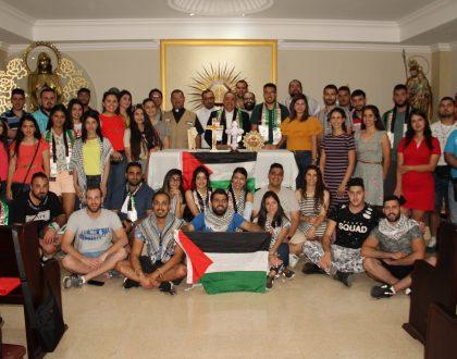 Jóvenes católicos de Palestina se reúnen con el Arzobispo de Panamá