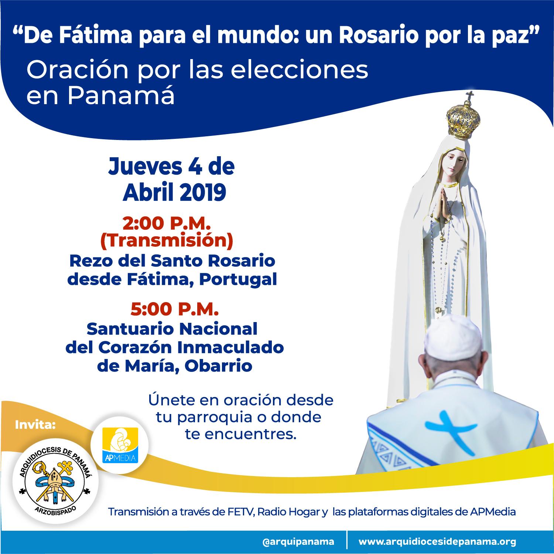 Unida al rezo del Rosario mundial por la paz  y también por las elecciones del país