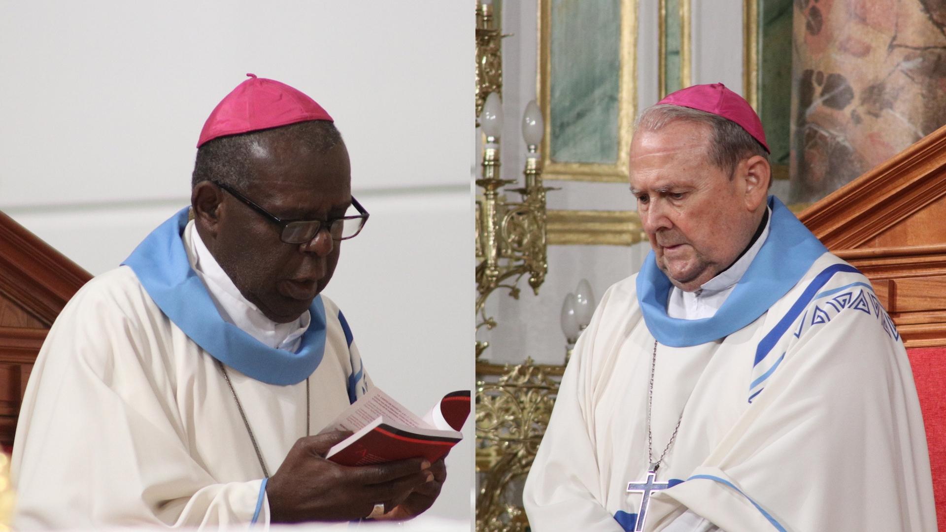 Gracias a obispos auxiliares eméritos: Mons. Pablo y Mons. Uriah