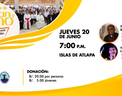 """En Cena de Pan y Vino 2019: Testimonios de Monseñor Uriah y Paul Ponce """"malabarista de Dios"""""""
