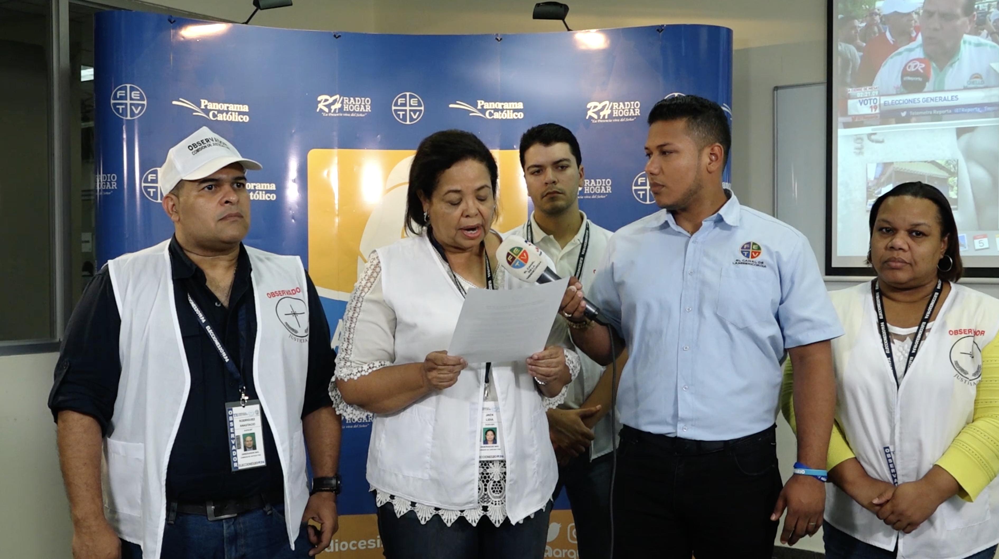 Comisión de Justicia y Paz envía primer reporte de incidencias de la jornada electoral