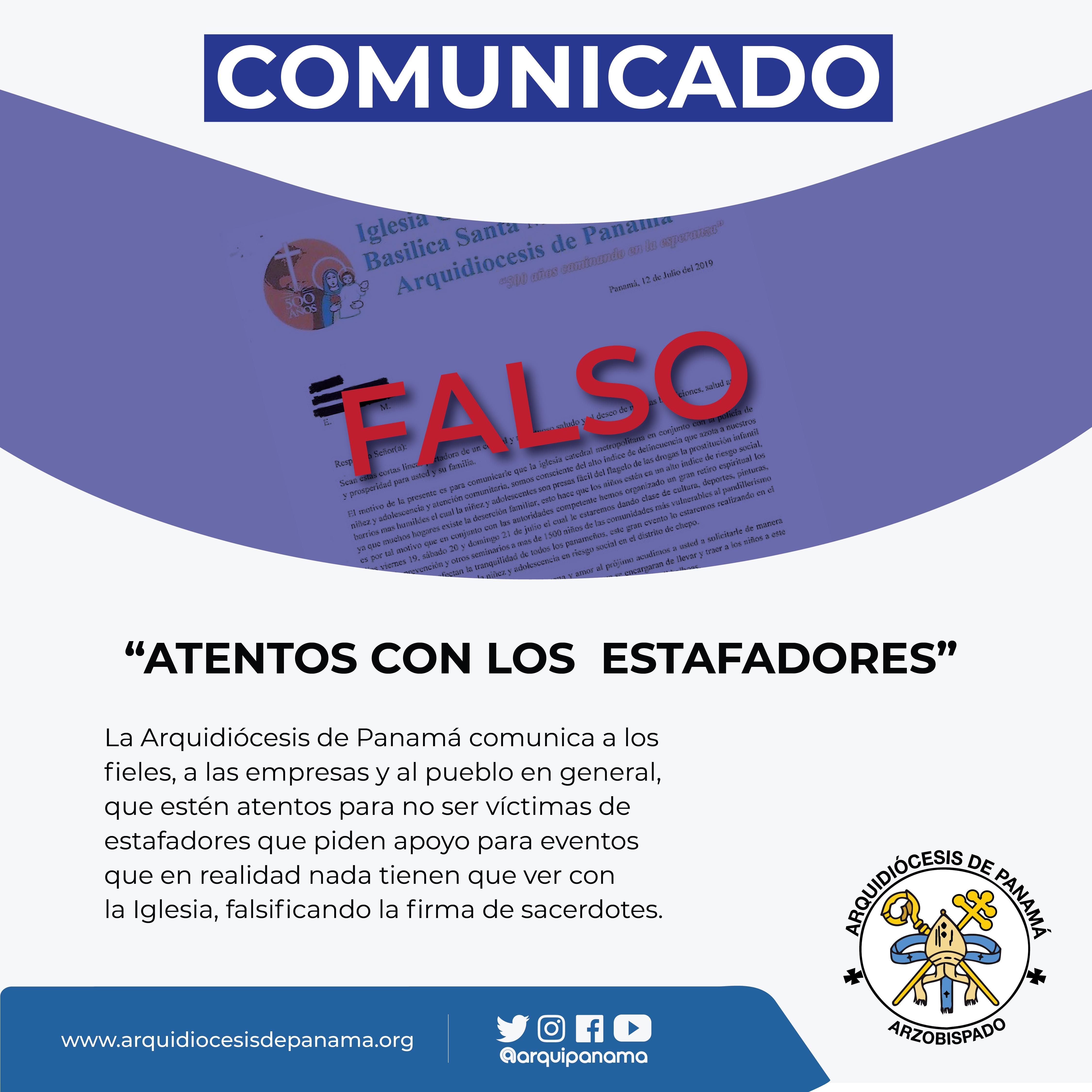 COMUNICADO DE LA OFICINA DE COMUNICACIÓN Y PRENSA