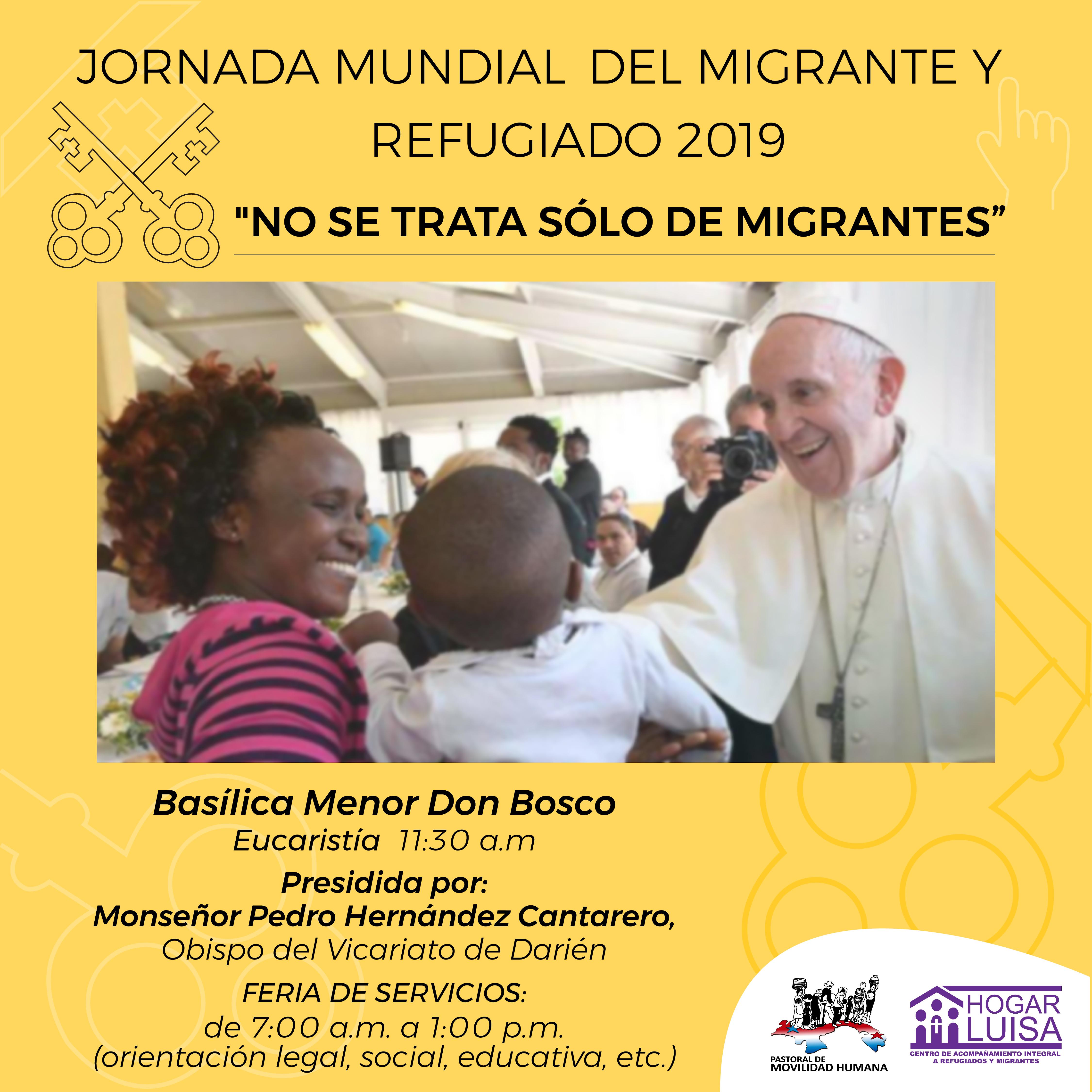 Eucaristía,por la 105 Jornada Mundial del Migrante y Refugiado