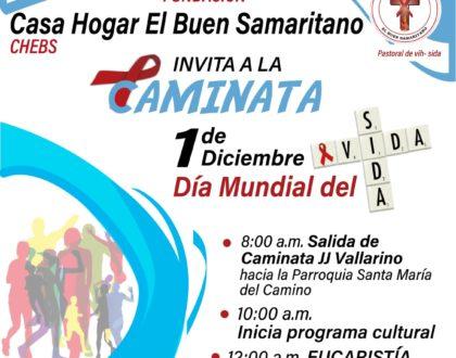 Acompaña a Casa Hogar El Buen Samaritano, en la Caminata por el Día Mundial de la lucha contra el VIH/SIDA