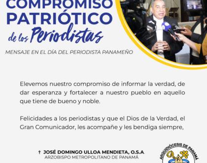 MENSAJE EN EL DÍA DEL PERIODISTA PANAMEÑO - 13 DE NOVIEMBRE DE 2019