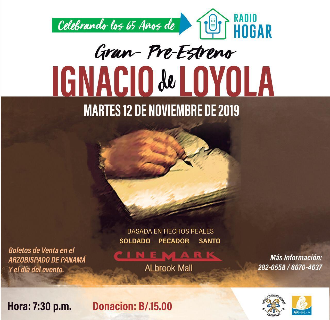"""Por aniversario de Radio Hogar, pre estreno de la película """"Ignacio de Loyola, Soldado- Predicador- Santo"""""""