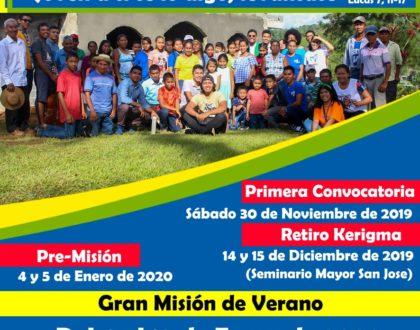 Misión Juvenil 2020 se realizará en  Chepo, Tortí, Capira, Chame y San Carlos