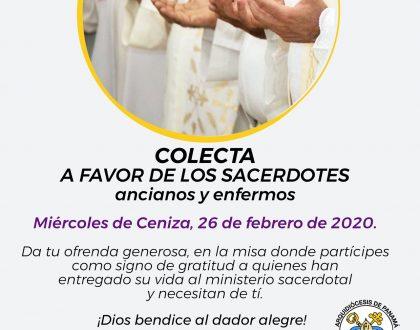 Solidaridad con sacerdotes ancianos y enfermos pide el Arzobispo de Panamá