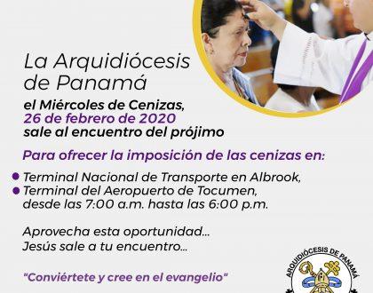 RITO DE IMPOSICIÓN DE CENIZAS EN TERMINAL DE ALBROOK Y EN EL AEROPUERTO DE TOCUMEN