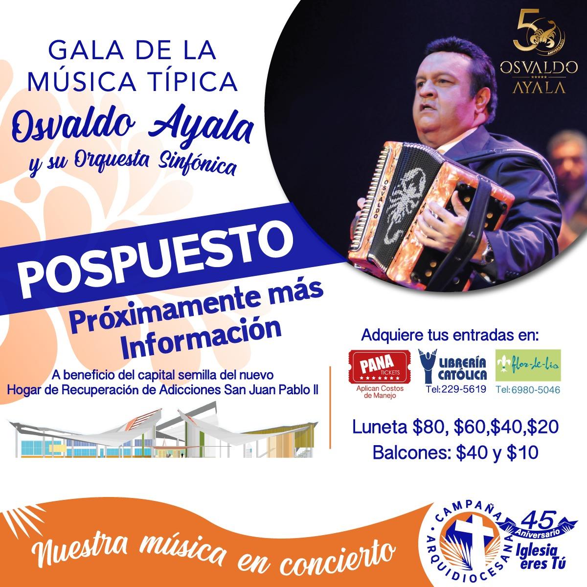 COMUNICADO - Pospuesta Gala de la Música Típica