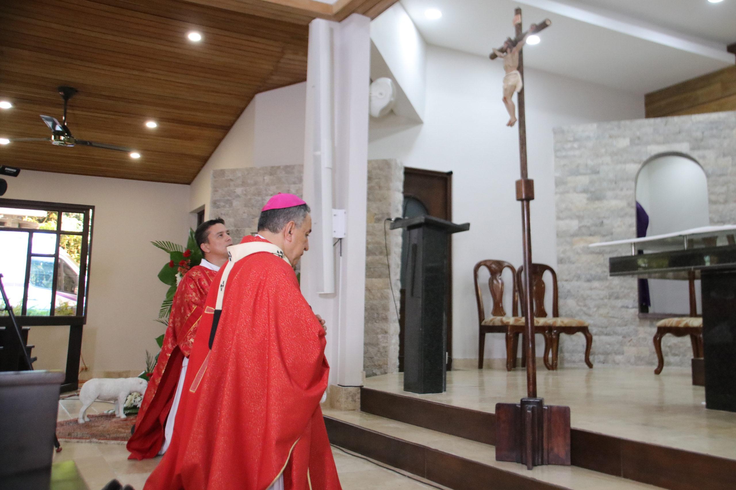 """Monseñor Ulloa: 'la Cruz es la llave de la puerta  santa del cielo' y nos invita a la construcción del reino"""""""