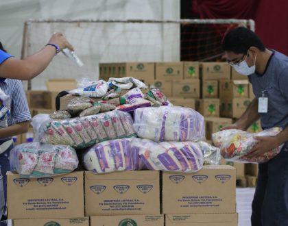 Pastoral Social Caritas recibe mil 57 bolsas de comida del Banco de Alimentos