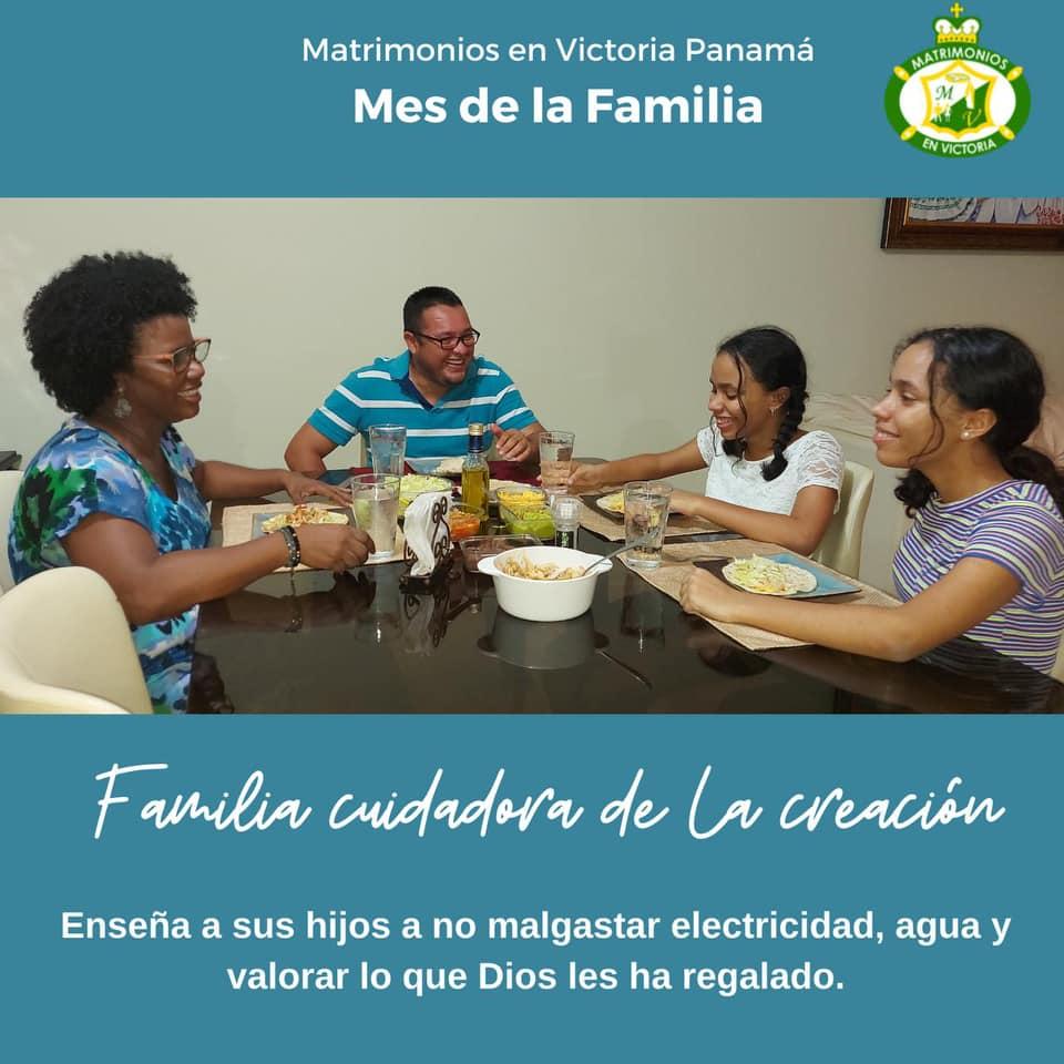 """""""La familia cuida la casa común""""  es el lema de la campaña con el que CONAFAVI celebra  el mes de la familia."""