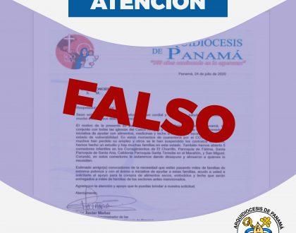 ALERTA - ANTE ESTAFADORES  SOBRE SUPUESTA DONACIÓN  PARA FAMILIAS VULNERABLES