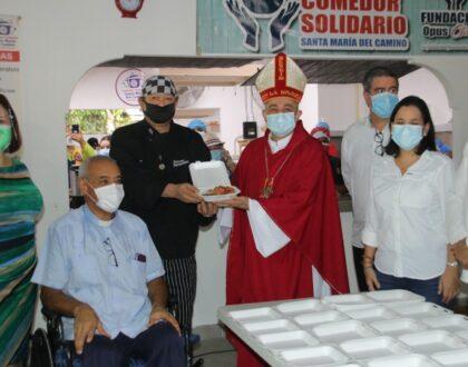 Comedor Solidario Santa María del Camino logró el plato 100 mil de comida