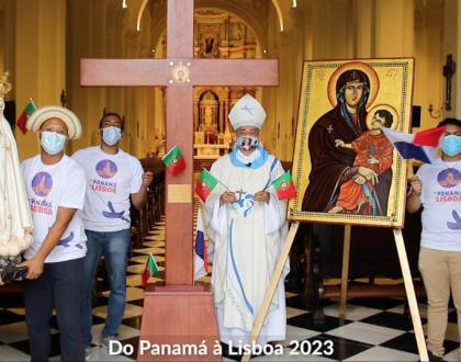 CON UN VIDEO IGLESIA EN PANAMA HACE ENTREGA VIRTUAL DE LOS SÍMBOLOS DE LA JMJ A PORTUGAL